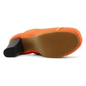 Jeffrey Campbell Shoes - Jeffrey Campble Havana Neon Orange Mesh Lita Boots
